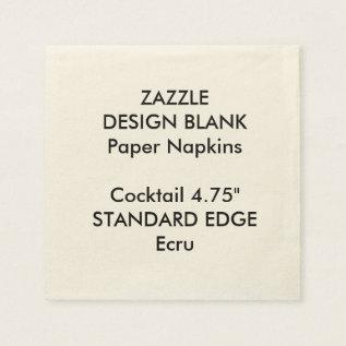 Personalized Plain Edge Cocktail Paper Napkins at Zazzle