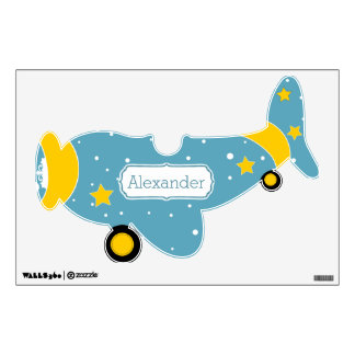 Personalized Plane Baby Boy or Toddler Wall Decal