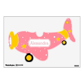 Personalized Plane Baby Girl or Toddler Wall Decal