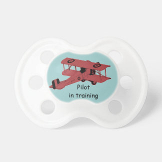 Personalized plane pacifier BooginHead pacifier