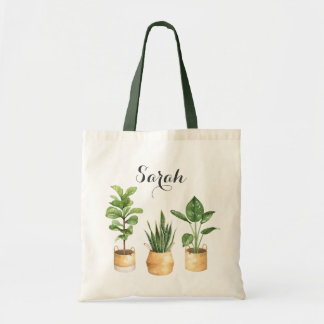 Personalized Plants Philodendron Tote Bag