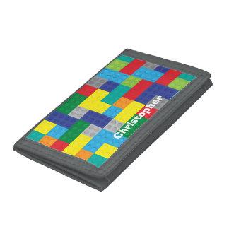 Personalized Plastic Toy Bricks Building Blocks Tri-fold Wallet