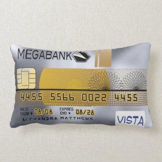 Personalized Platinum Credit Card Lumbar Pillow