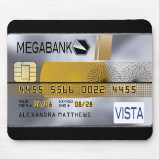 Personalized Platinum Credit Card Mouse Pad