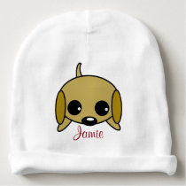 Personalized Playful Puppy Baby Beanie