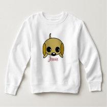 Personalized Playful Puppy Sweatshirt