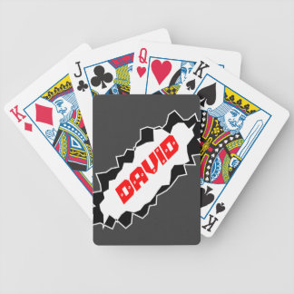 Personalized playing cards with custon name