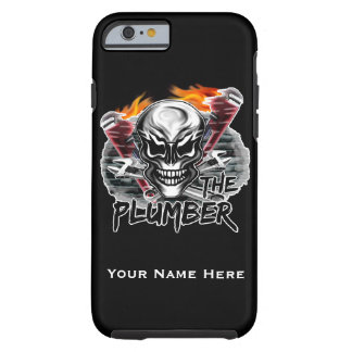 Personalized Plumber Skull iPhone 6 case