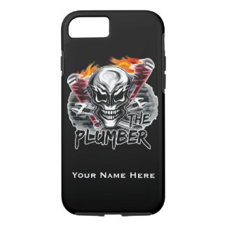 Personalized Plumber Skull iPhone 7 case