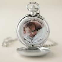 Personalized Pocket Watch With Photo & Custom Text