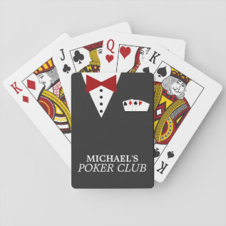 Personalized Poker Club Playing Cards at Zazzle