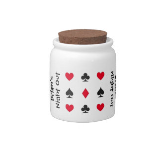 Personalized Poker Night Money Jar Candy Jars