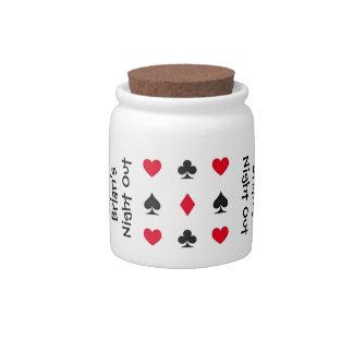 Personalized Poker Night Money Jar Candy Jars