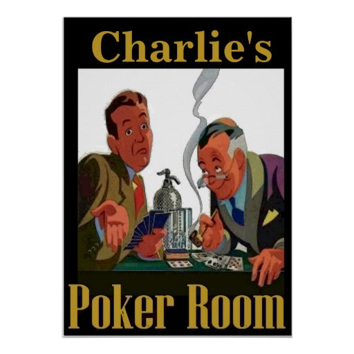Personalized Poker Room Sign Poster