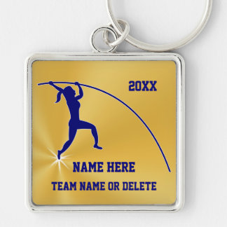 Personalized Pole Vaulter Gifts for Girls Keychain