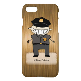 Personalized Police Officer Cartoon Custom Name iPhone 8/7 Case
