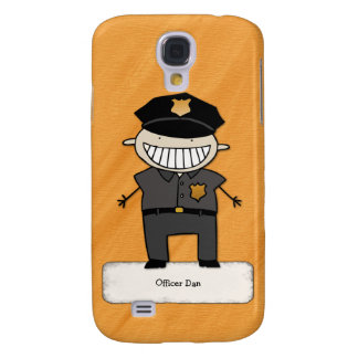 Personalized Police Officer Cartoon Galaxy S4 Cover