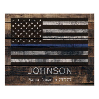 Personalized Police Poster