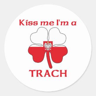 Personalized Polish Kiss Me I'm Trach Round Sticker