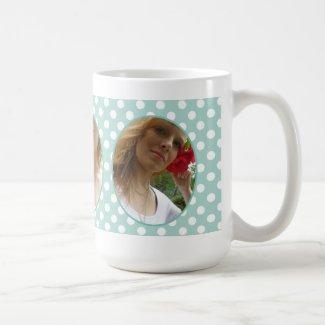 Personalized: Polka-dot Framed: Picture Mug