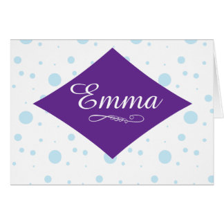 Personalized Polka Dot Note Cards