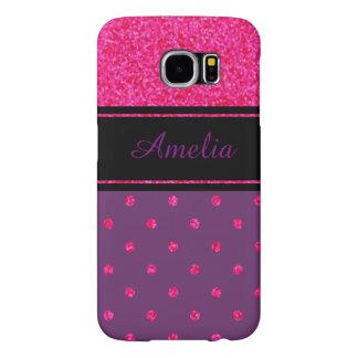 Personalized Polka Dot Samsung Galaxy S6 Case