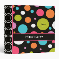 Personalized Polka Dots School Binder