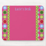 PERSONALIZED POLKA DOTTIES MOUSEPADS