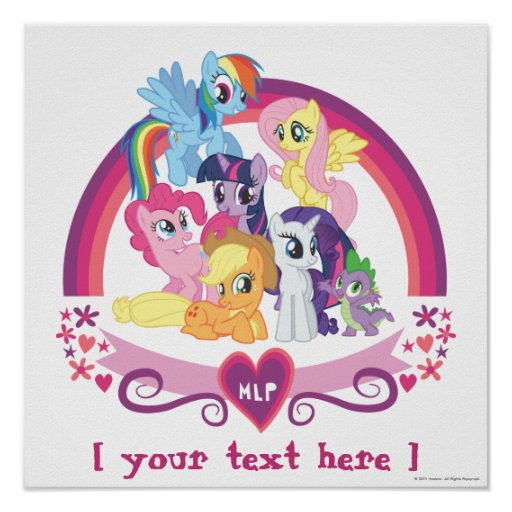 Personalized Ponies Poster