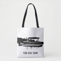 Personalized Pontoon Boat Tote Bag