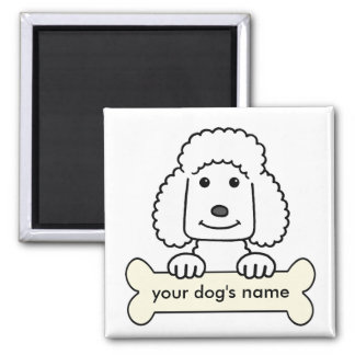 Personalized Poodle 2 Inch Square Magnet