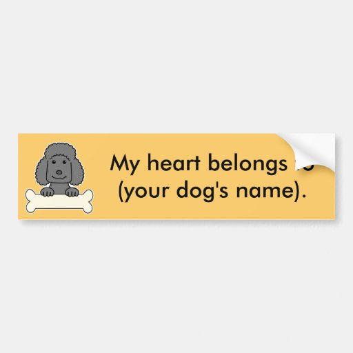 Personalized Poodle Bumper Stickers