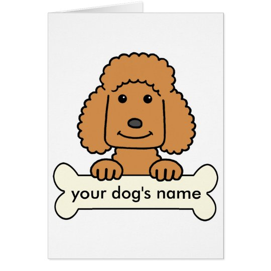 Personalized Poodle Card