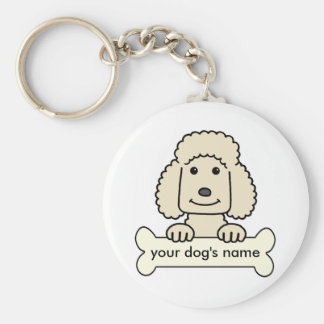 Personalized Poodle Keychain