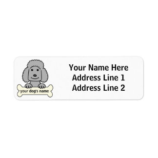 Personalized Poodle Return Address Labels