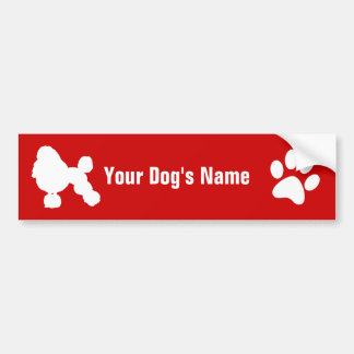 Personalized Poodle (Miniature) ミニチュア・プードル Bumper Sticker