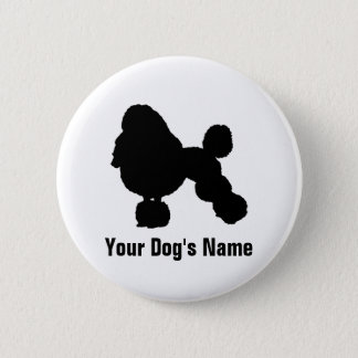 Personalized Poodle (Miniature) ミニチュア・プードル Pinback Button