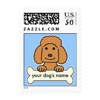 Personalized Poodle Postage