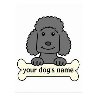Personalized Poodle Postcard