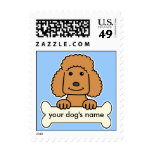 Personalized Poodle Stamps