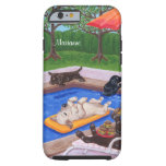 Personalized Pool Party Labradors 2 iPhone 6 Case