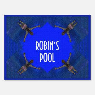 Personalized Pool Sign