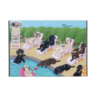 Personalized Poolside Party Labradors Case For iPad Mini