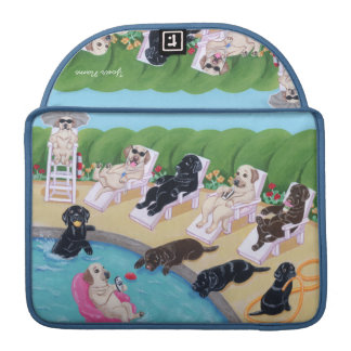 Personalized Poolside Party Labradors Sleeve For MacBook Pro