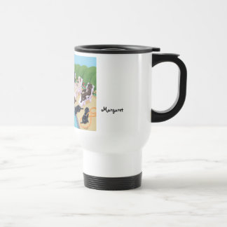 Personalized Poolside Party Labradors Travel Mug