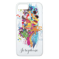 Personalized Pop Art Retro Beach phone case