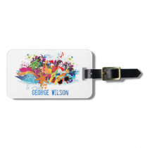 Personalized Pop Art Retro Summer Beach Tag
