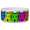 Personalized Pop Art Siberian Husky Dog Food Bowls (<em>$26.35</em>)