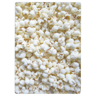 Personalized Popcorn Texture Photography Clipboard