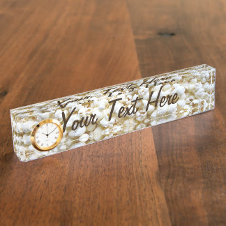 Personalized Popcorn Texture Photography Desk Name Plate